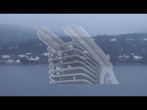 White Noise Cruise Ship engine in the Oslo fjord, no video loop! 85 min. MS Color Magic