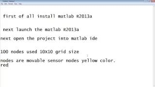 Matlab Simulation for Wireless Sensor Network Projects