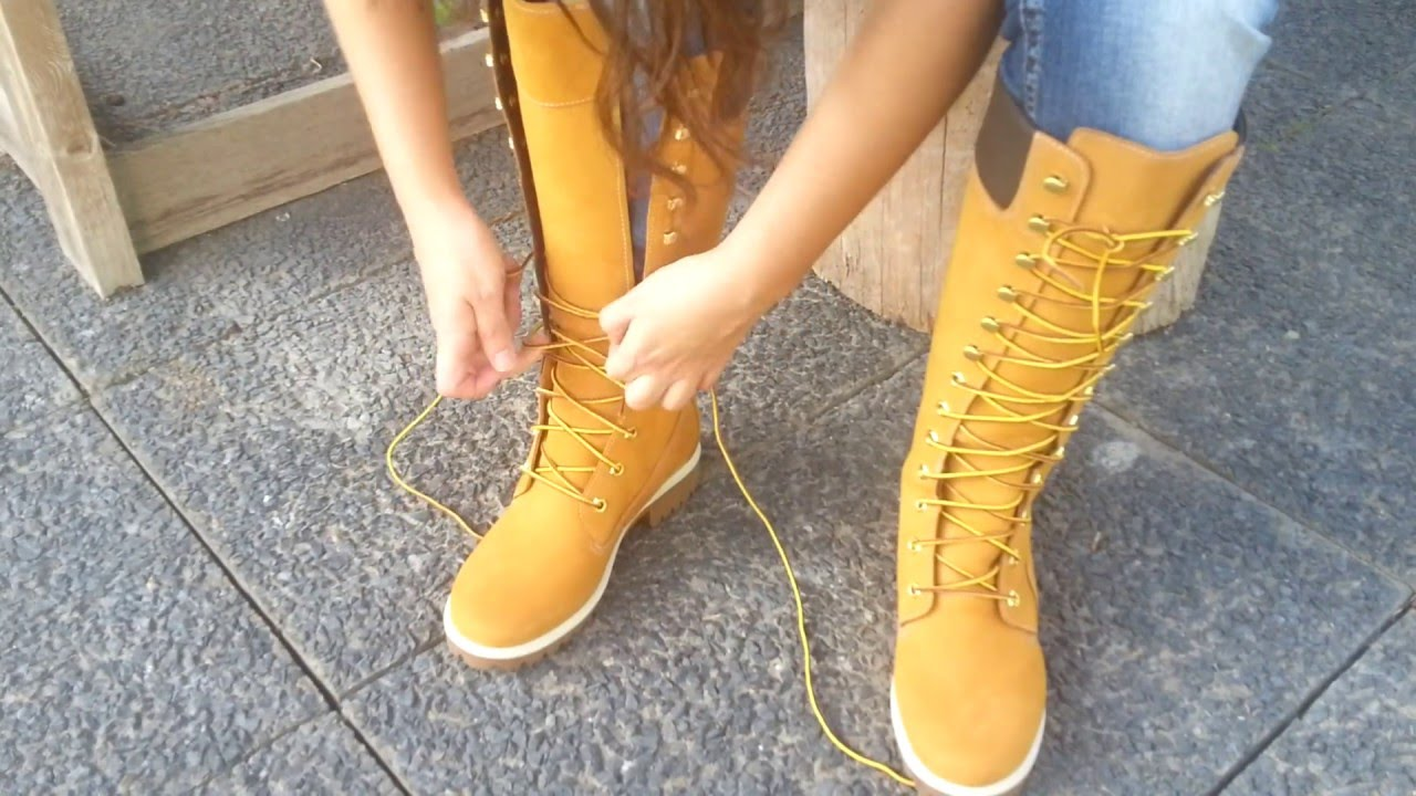 13356710c795 TIMBERLAND Womens Premium 3752R Wheat - YouTube