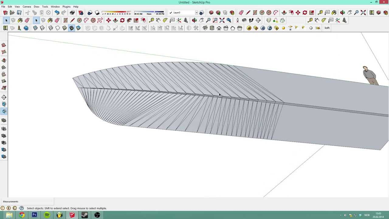 Sketchup 2013 detailed boat tutorial with mic ep 1 for Sketchup 2013