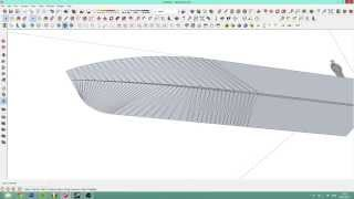 Sketchup 2013 - Detailed boat tutorial WITH Mic! Ep.1