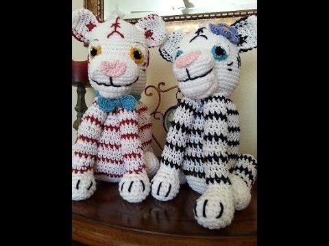 León Amigurumi Tutorial : Crochet white and bengal tiger diy tutorial part 1 of 3 youtube