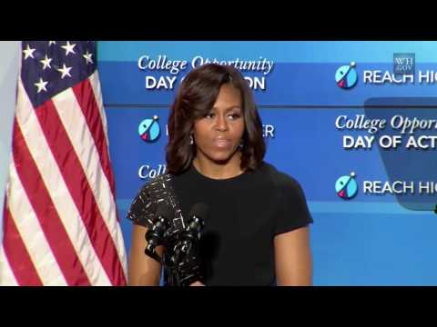 English sub The First Lady Speaks at the College Opportunity Summit
