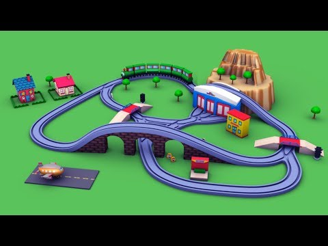 trains for children - school bus cartoon - cartoon for kids - chu