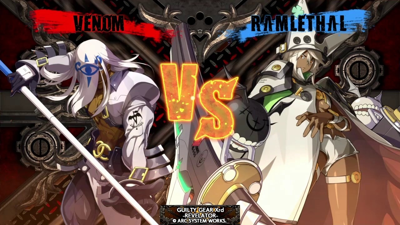 Guilty Gear Xrd Revelator : Baykou(Venom) Vs WarriorPMex(Ramlethal Valentine )