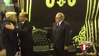 اللقطات الاولي من عزاء رفعت السعيد وباقة ورد من الرئيس الفلسطيني