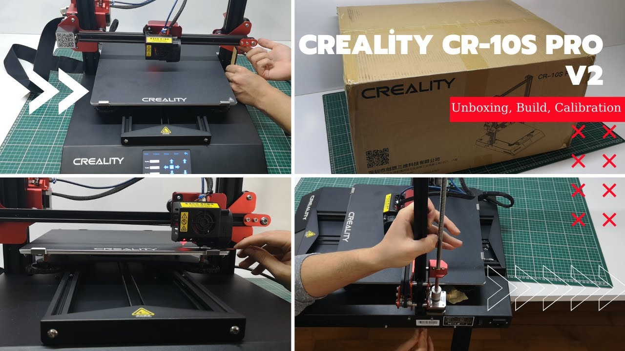 Creality Cr 10s Pro V2 Unboxing Build Calibration And First Print Youtube