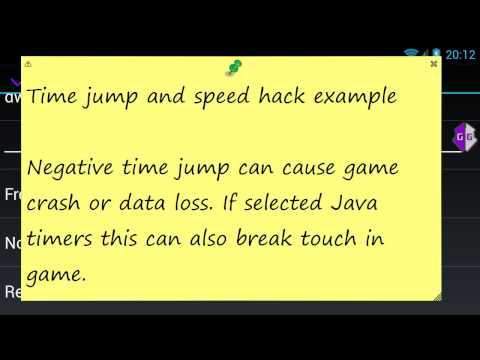Speed hack and time jump - GameGuardian