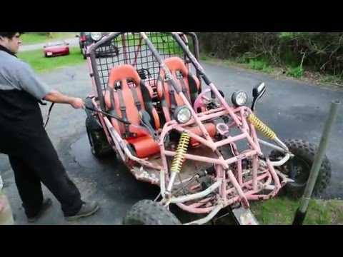 $150 GY6 Powered 250cc Roketa Go Kart Budget Build - YouTube