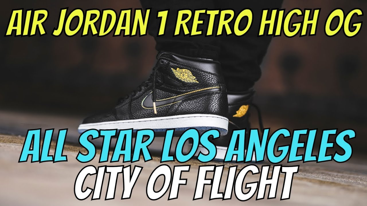 a98a534f801e Air Jordan 1 Retro High OG All Star Los Angeles (City Of Flight) REVIEW +  ON FEET
