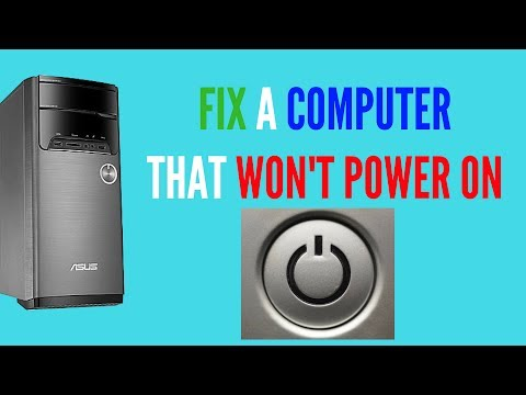FIX A COMPUTER THAT WON'T POWER ON
