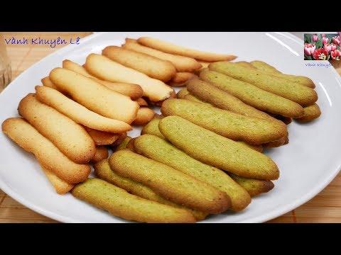 BÁNH LƯỠI MÈO - Cách làm Bánh Lưỡi Mèo Dừa Trà xanh Vani thơm ngon giòn xốp by Vanh Khuyen
