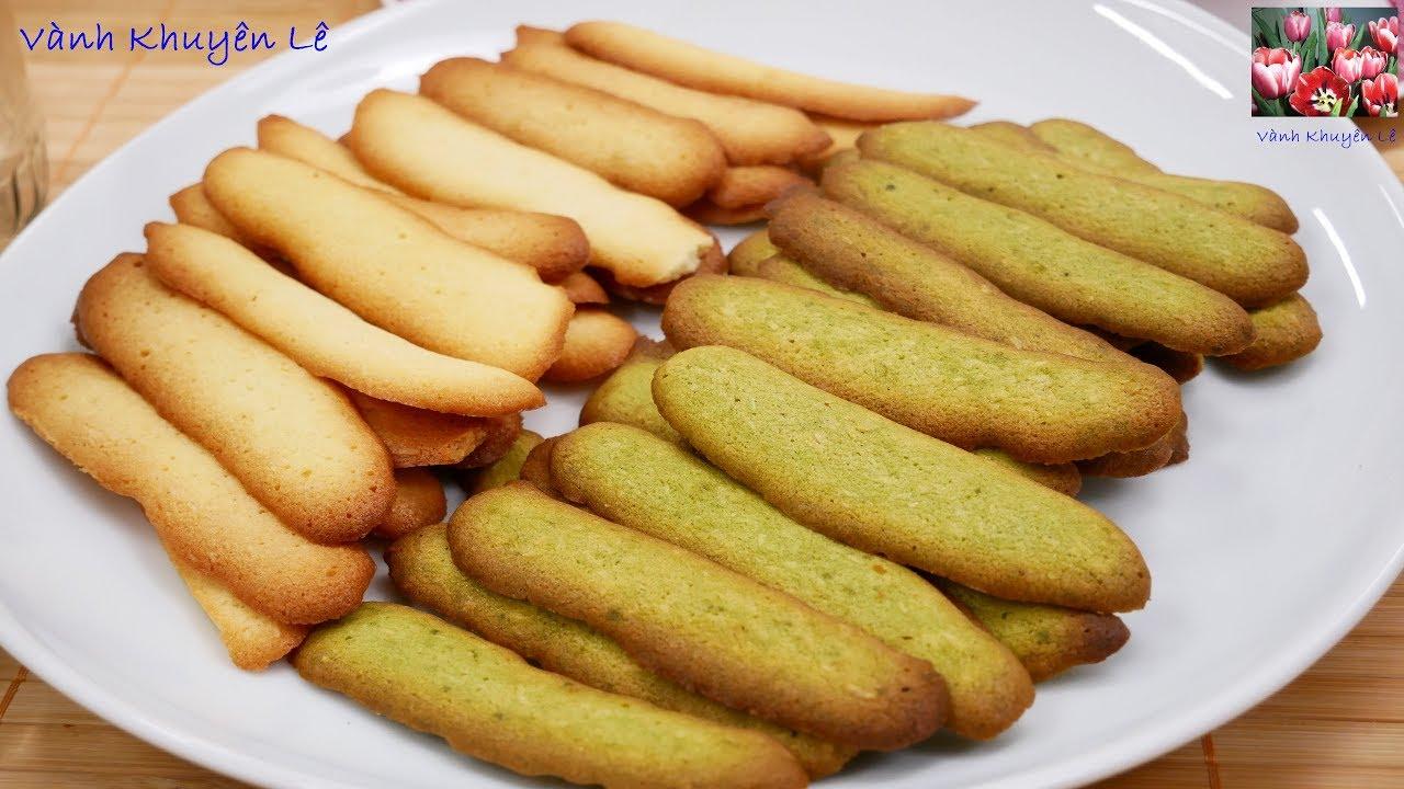 BÁNH LƯỠI MÈO – Cách làm Bánh Lưỡi Mèo Dừa Trà xanh Vani thơm ngon giòn xốp by Vanh Khuyen