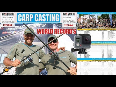 *** CARP CASTING WORLD RECORD'S - GO PRO VERSION ***