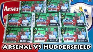 Opening 8 Deluxe Match Attax 18/19 Packs | Arsenal VS Huddersfield Pack Battle | Matchday Battle