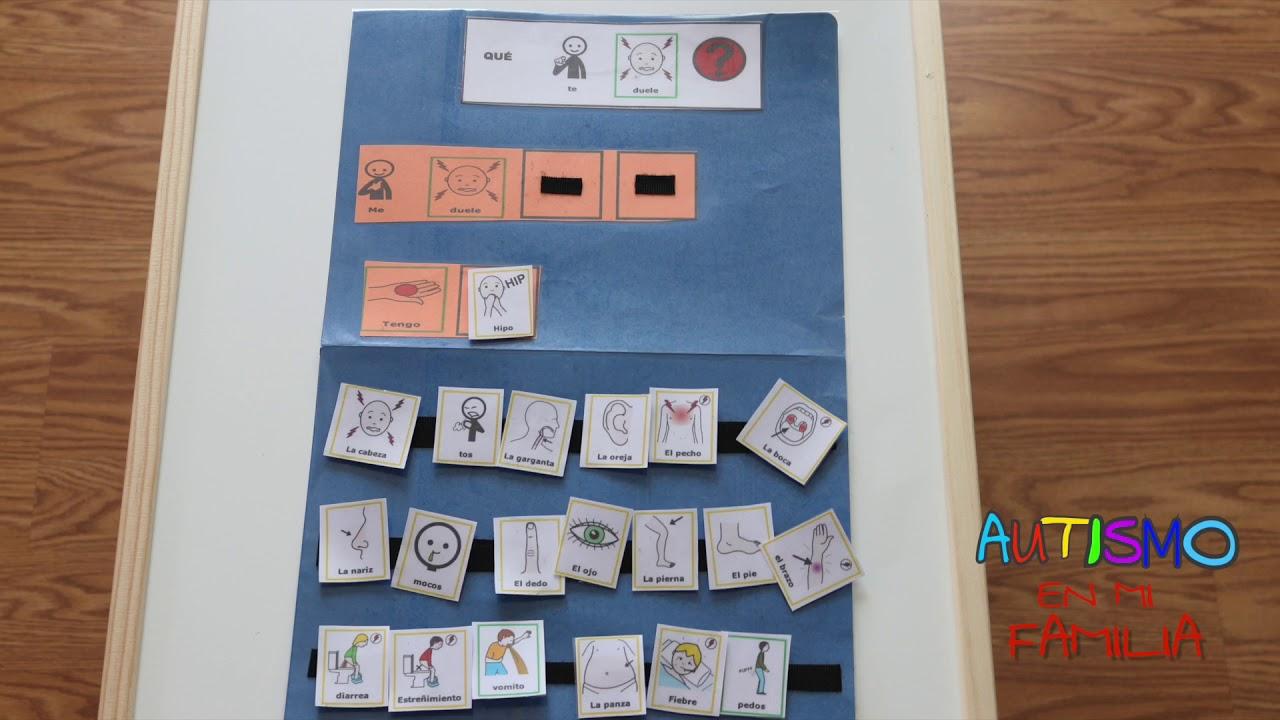 Material De Apoyo Para Niños Con Autismo Usando Pictogramas Agenda Visual Horario Visual Youtube
