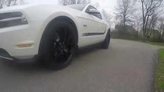 2011 mustang gt new wheels 20 inch matte black fr500 w nitto 555 tires with burnout