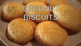 COCONUT BISCUITS    Easy recipe