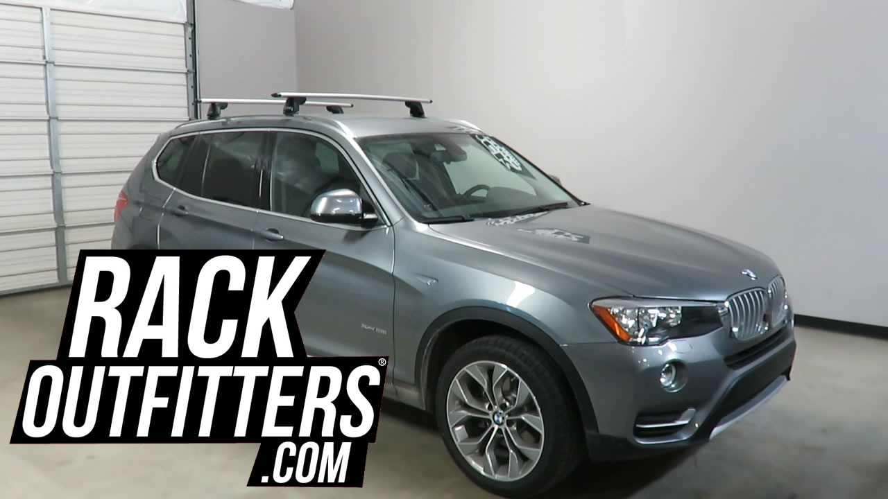 BMW X3 With Yakima RidgeLine JetStream Roof Rack Crossbars