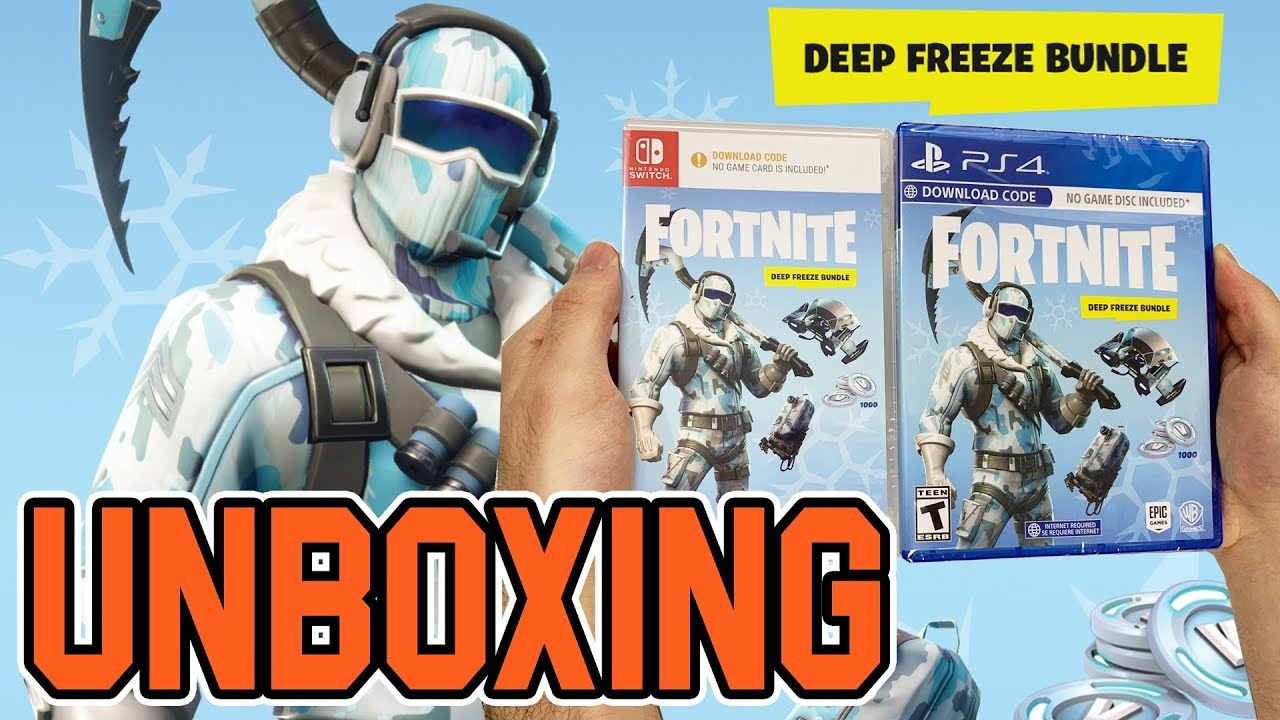 Fortnite Deep Freeze Bundle Ps4switch Unboxing Youtube