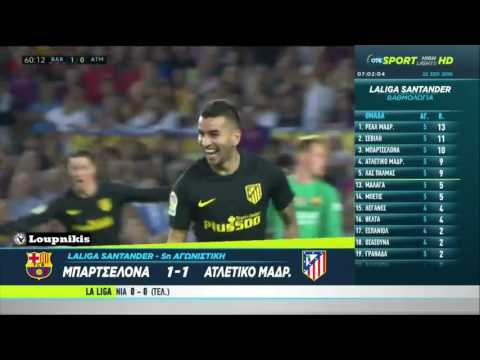 FC Barcelona vs Atlético Madrid 1-1 All Goals and Highlights {21/9/2016}