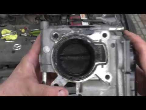Чистка дроссельной заслонки MZR-LF. 2L. Mazda 6 GG. Throttle body cleaning.