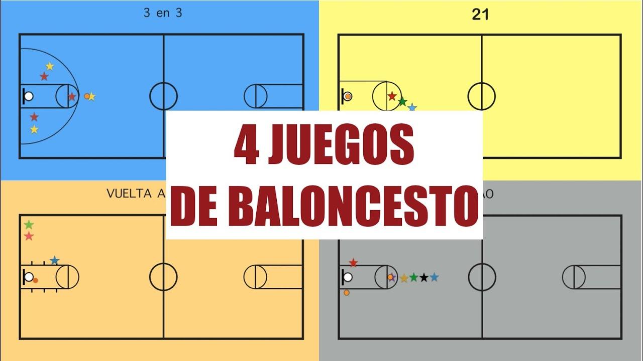 4 Juegos De Baloncesto Juegos Educacion Fisica Youtube