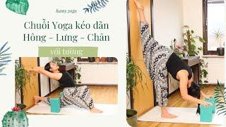 Chuỗi Yoga Giãn Cơ với Tường: 40 phút kéo dãn hông, lưng, chân