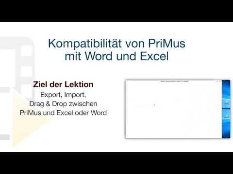 Tutorial von PriMus - Kompatibilität von PriMus mit Word und Excel - ACCA software thumbnail