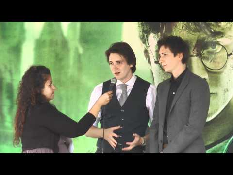 Harry Potter fan meeting with actors James Phelps and Oliver Phelps, Helsinki Finland 11 July 2011