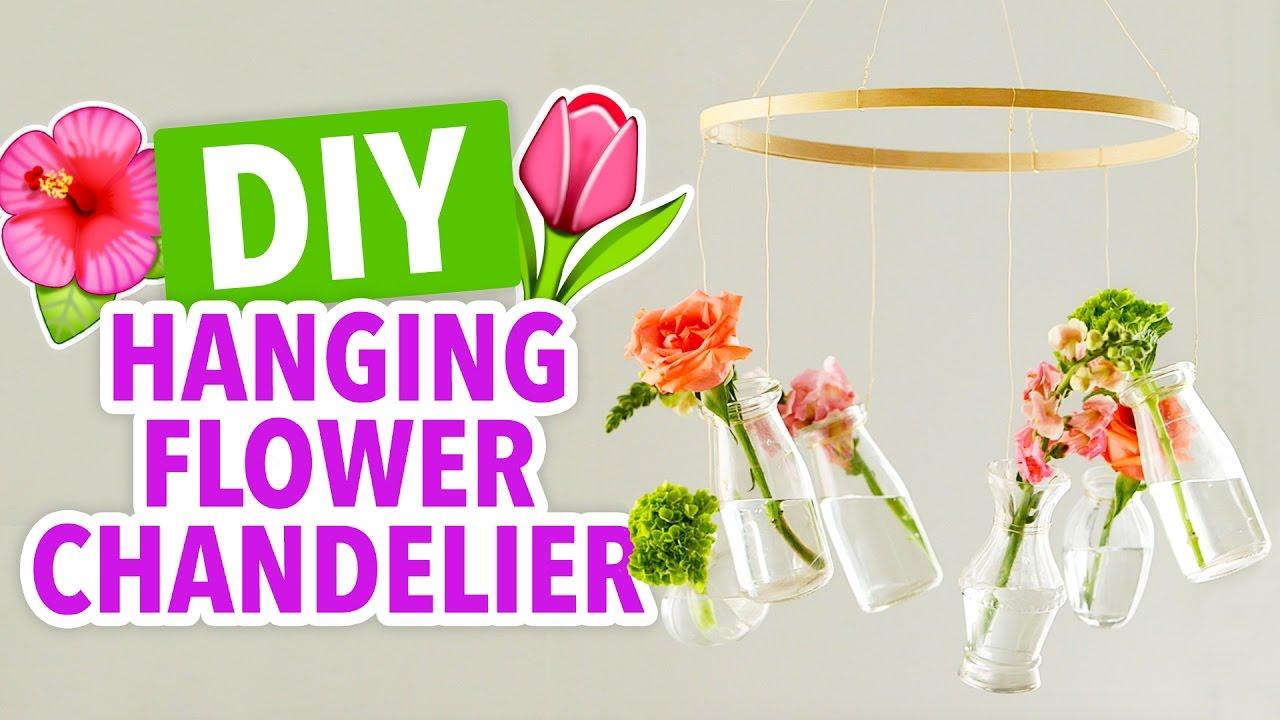 Diy flower chandelier hgtv handmade youtube diy flower chandelier hgtv handmade arubaitofo Image collections