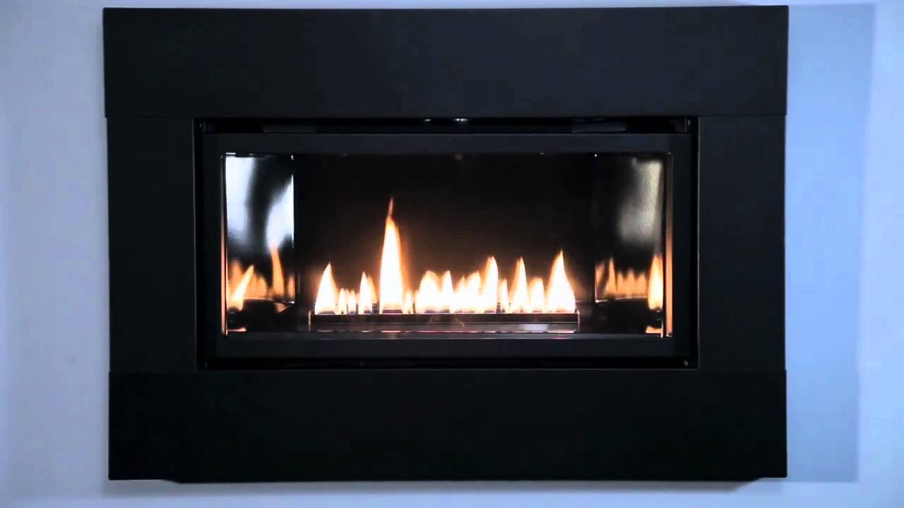 Loft Series Small Direct-Vent Fireplace with Matte Black Surround - Loft Series Small Direct-Vent Fireplace With Matte Black Surround