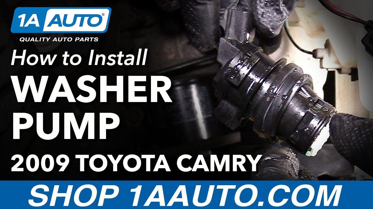 how to install replace windshield washer fluid pump 2009 toyota camry [ 1280 x 720 Pixel ]