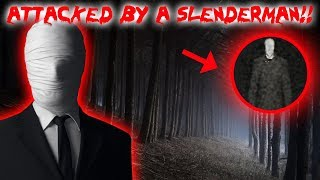ATTACKED BY SLENDER MAN IN A HAUNTED FOREST!! | MOE SARGI