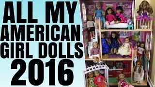 All My American Girl Dolls 2016