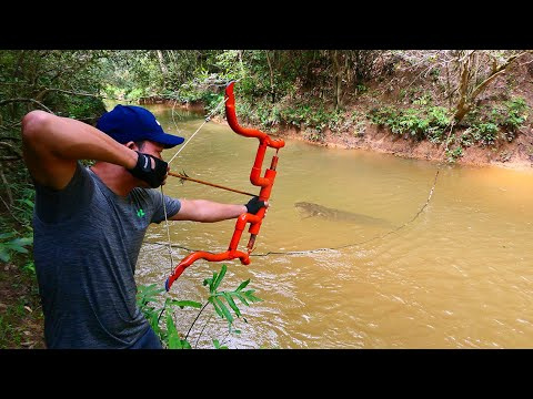 Building Amazing PVC New Style Compound Bowfishing For Shooting Huge Fish-  Make n Use