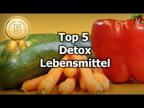 Top 5 Detox Lebensmittel für ein gesundes Entgiften des Körpers