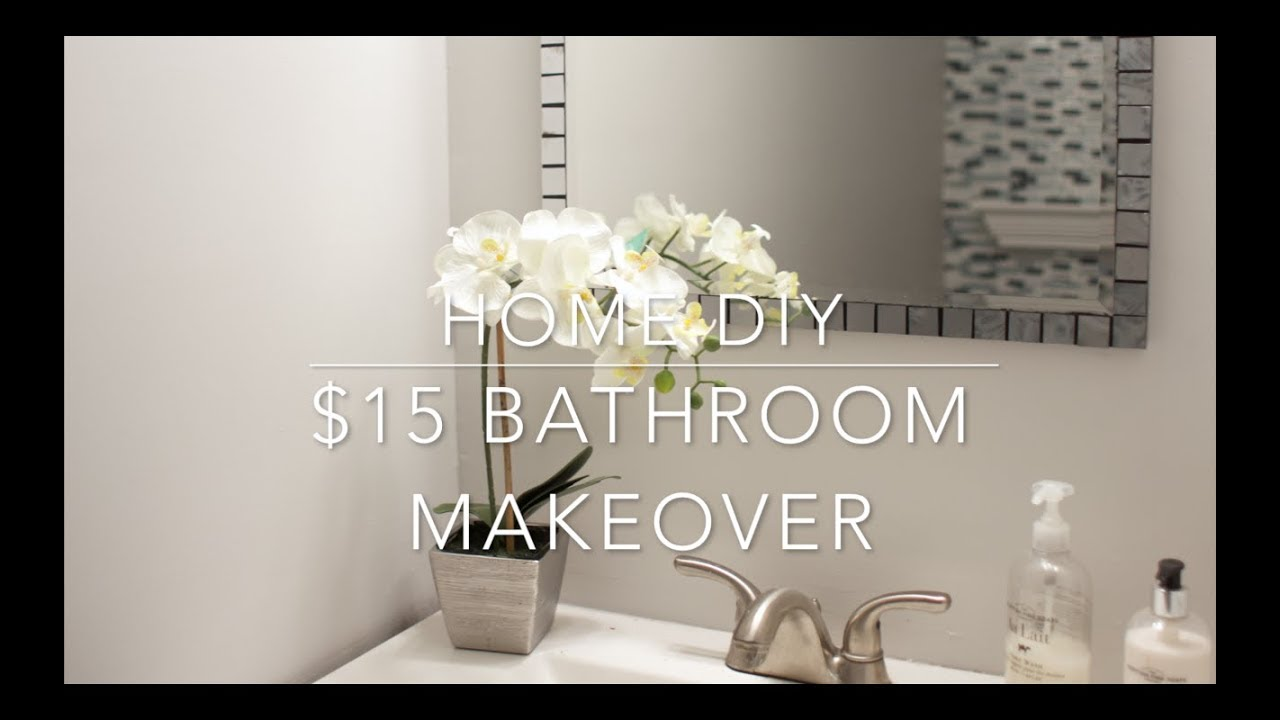 HOME DIY   $15 BATHROOM VANITY MAKEOVER