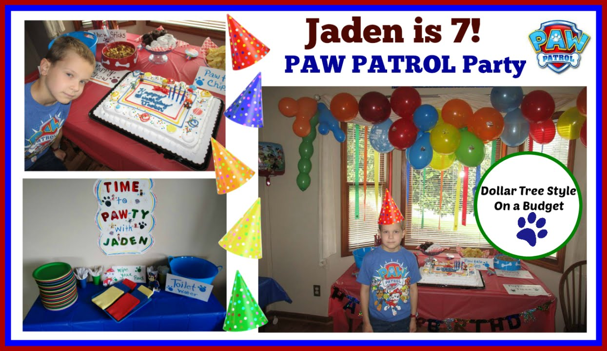 Paw Patrol Party On A Dollar Tree Budget Vlog