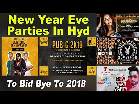 Top 9 New Year Eve Parties In Hyderabad | New Year Celebrations Hyderabad 2019 | PUBG - 2K19 Mp3