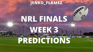 Finals Week 3 Predictions | National Rugby League