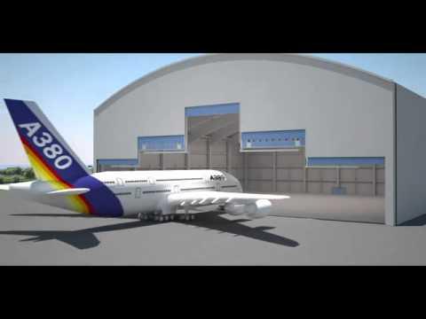 simulation d 39 ouverture d 39 une porte de hangar d 39 avion megadoor youtube. Black Bedroom Furniture Sets. Home Design Ideas