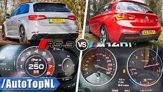 BMW M140i vs Audi RS3   EXHAUST SOUND 0-250km/h ACCELERATION TOP SPEED & AUTOBAHN POV by AutoTopNL