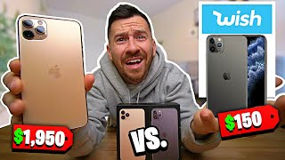 $150 Fake iPhone 11 vs. $1,950 iPhone 11 Pro Max!! (WISH Knock Offs Vs. Real iPhone)
