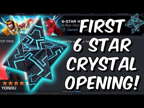 First 6 Star Crystal Opening - Marvel Contest Of Champions