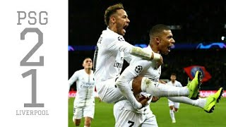 PSG vs Liverpool (2-1) All Goals and Highlights