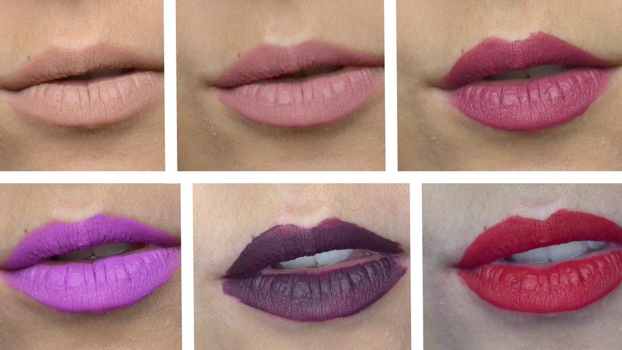 Stila Quoteternally Yoursquot Liquid Lipstick Swatches Youtube
