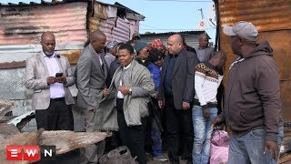 Human Settlements minister Nomaindia Mfeketo along with Social Development minister Susan Shabangu visited Taiwan informal settlement in Khayelitsha today. Eight people – including 5 children -  died in a shack fire in this community on Monday.  Shabangu says she's come to see how her department can help the family. Human Settlements minister Mfeketo has questioned why so many people are still living in unsafe conditions. Police are investigating a case of arson following the devastating fire. A 21 year old woman has also been taken in for questioning.  Click here to subscribe to Eyewitness news:http://bit.ly/EWNSubscribe  Like and follow us on:http://bit.ly/ EWNFacebookANDhttps://twitter.com/ewnupdates  Read full article on Eyewitness news: http://ewn.co.za/2018/05/08/police-investigations-underway-following-deadly-khayelitsha-shack-fire  Keep up to date with all your local and international news:www.ewn.co.za  Produced by: Bertram Malgas
