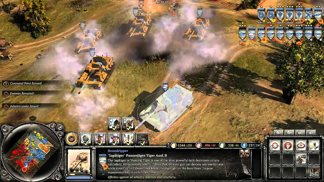 Company Of Heroes 2 Jagdtiger Might Youtube