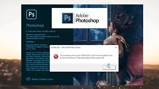 Adobe Photoshop CC 2020 Error Sniffer.exe Entry Point Not Found SOLVED! ✔️